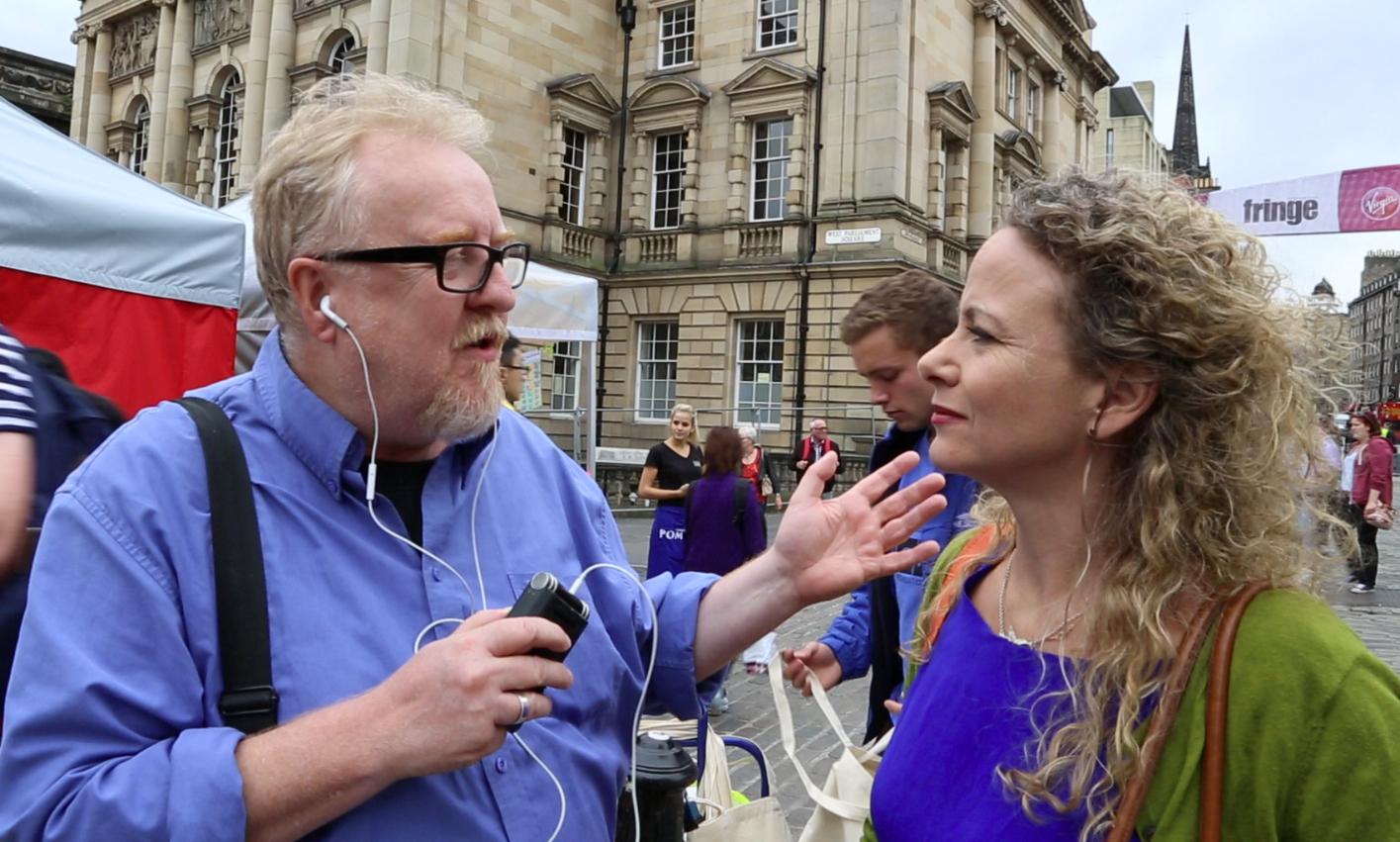Brian and Georgina in Edinburgh